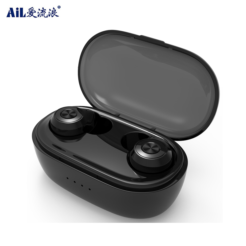 Touch Control Bluetooth Headset Wireless Tws Headphone with 500 mAh Charging Case
